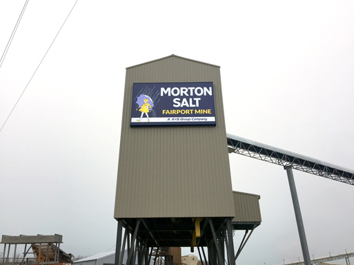 Morton Salt Wall Sign - By Akers Signs