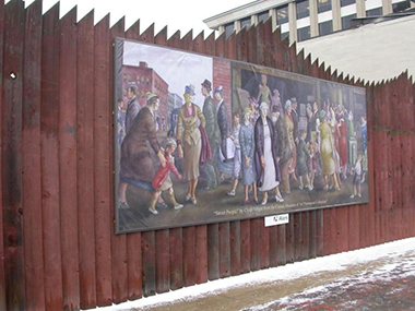 Downtown Canton Wall Mural