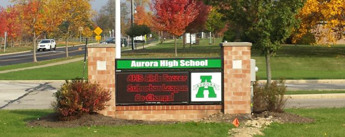 Aurora High School - By Akers Signs