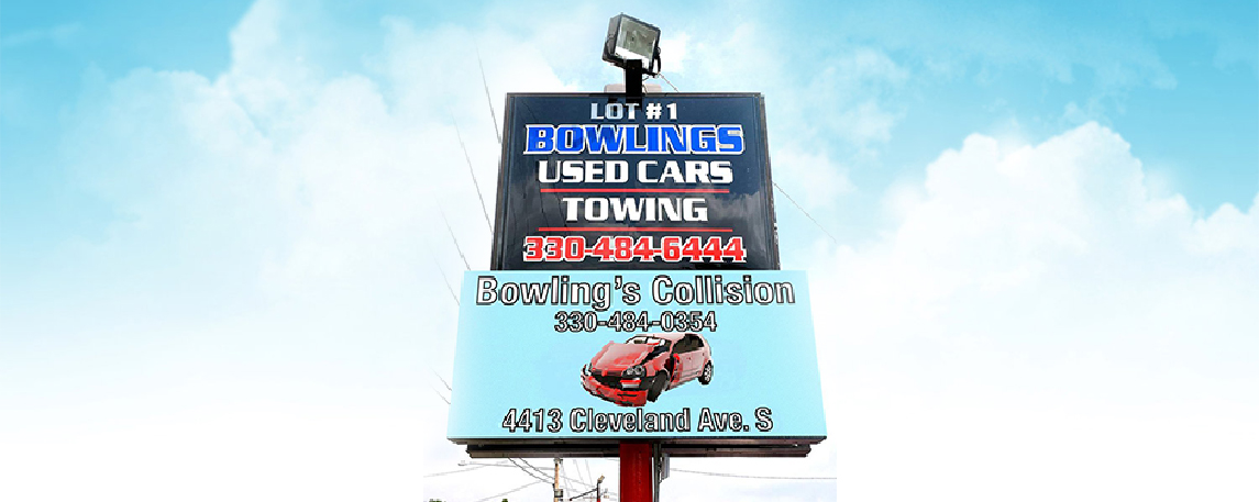 Bowling Used Cars - By Akers Signs