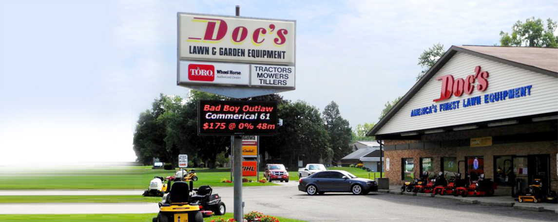 Doc's Lawn and Garden Equipment - By Akers Signs