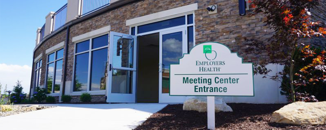 Employers Health Meeting Center Entrance Directional Sign - By Akers Signs