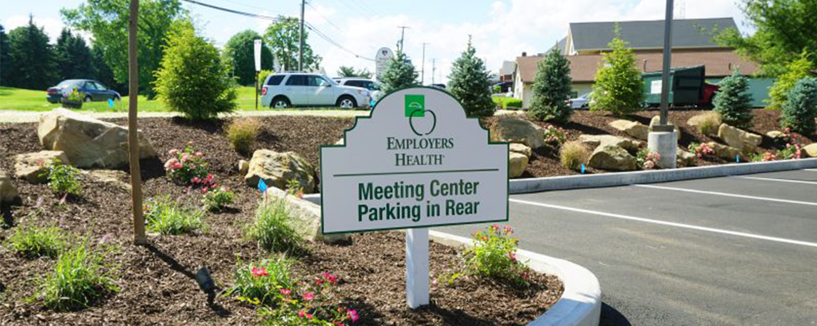 Employers Health Parking Directional Sign - By Akers Signs