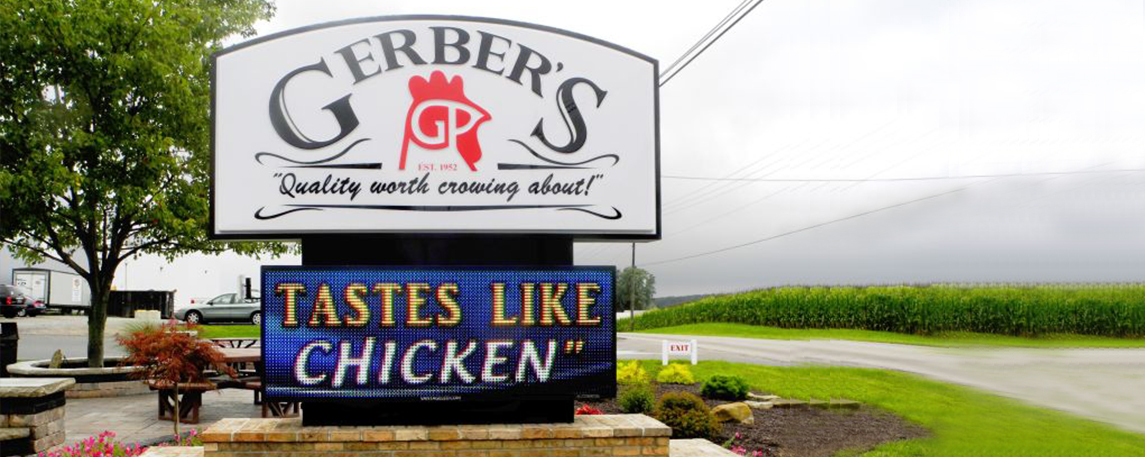 Gerber's Poultry - By Akers Signs
