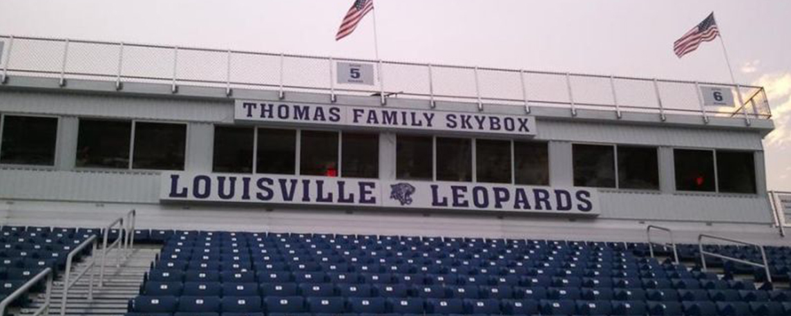 Louisville High School Press Box- By Akers Signs
