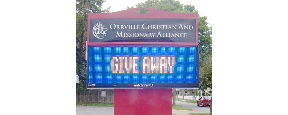 Orrville Christian and Missionary Alliance - By Akers Signs
