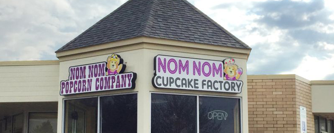 Nom Nom Cupcake Factory - By Akers Signs