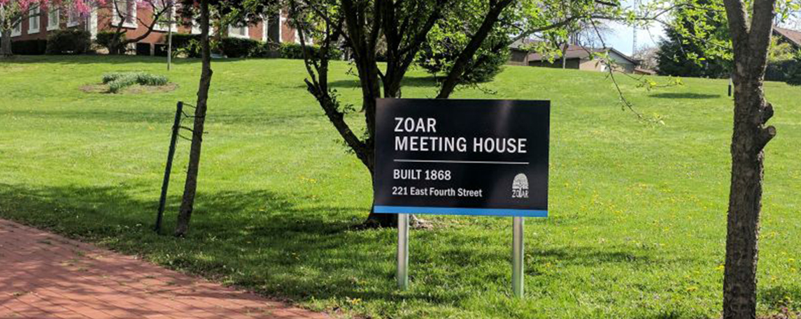 Ohio Historical Society Zoar Meeting House - By Akers Signs