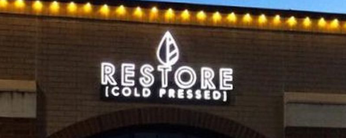 Restore Cold Presses - By Akers Signs