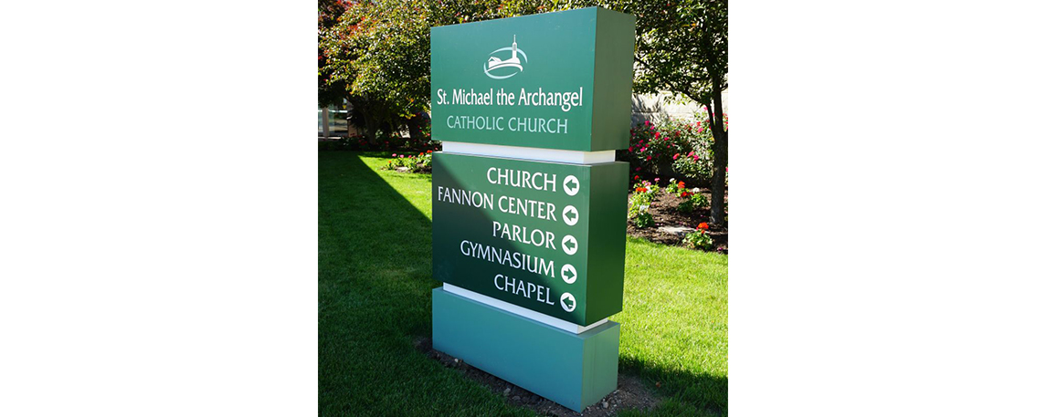 St. Michael's Monument Directional Sign