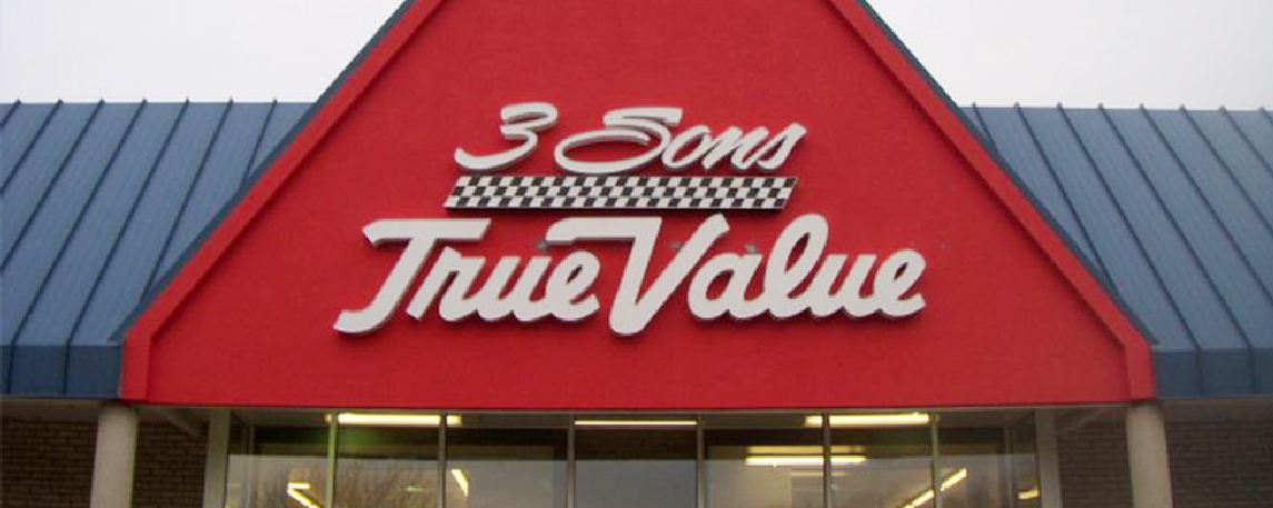 Three Sons True Value- By Akers Signs