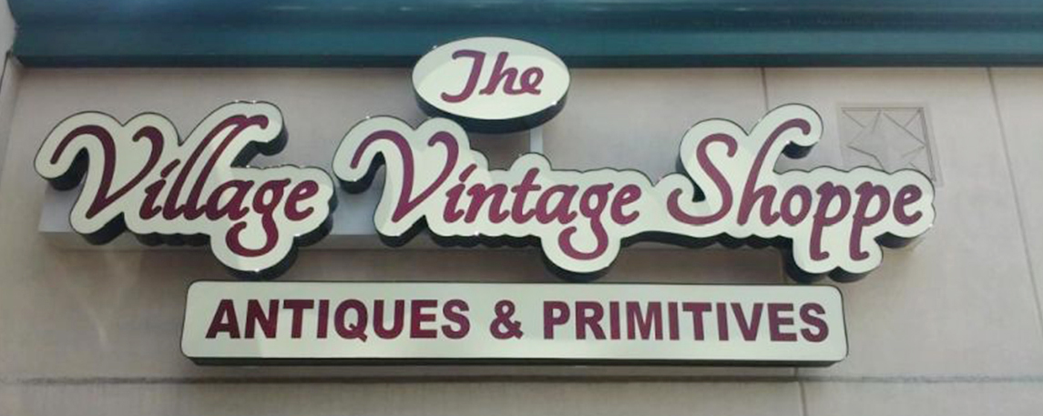 Village Vintage Antiques - By Akers Signs