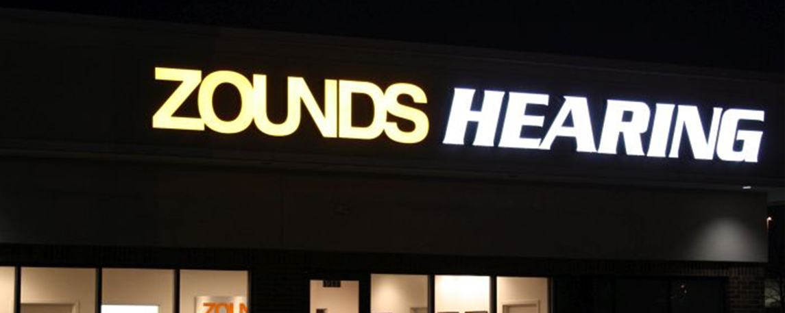 Zounds Hearing- By Akers Signs