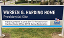 OHS-Warren G. Harding Home - By Akers Signs